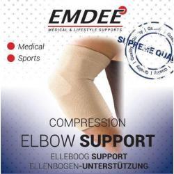 Elastische ondersteuning elleboog huidkleur maat M