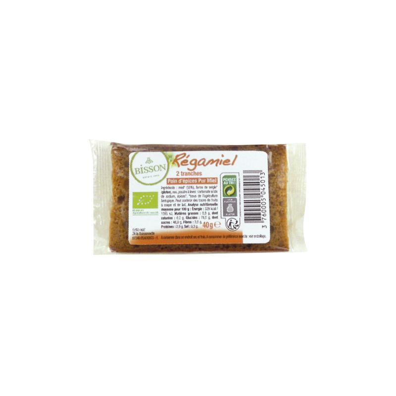 Regamiel honing-kruidkoek per 2 (20 gram) verpakt
