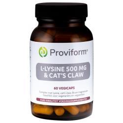 L-Lysine 500 mg & cats claw
