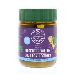 Helder groente bouillon poeder zoutarm
