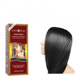 Henna haarverf creme zwart