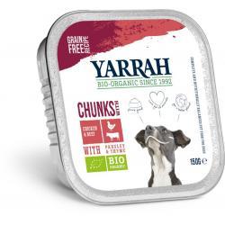Biologisch hondenvoer chunks met kip en rund