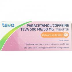 Paracetamol coffeine 500/50
