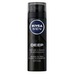 Men deep black shaving foam