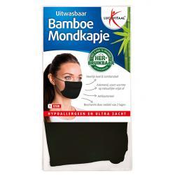 Mondkapje bamboe zwart