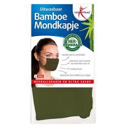 Mondkapje bamboe groen