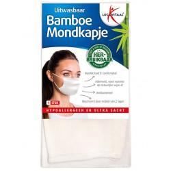 Mondkapje bamboe wit